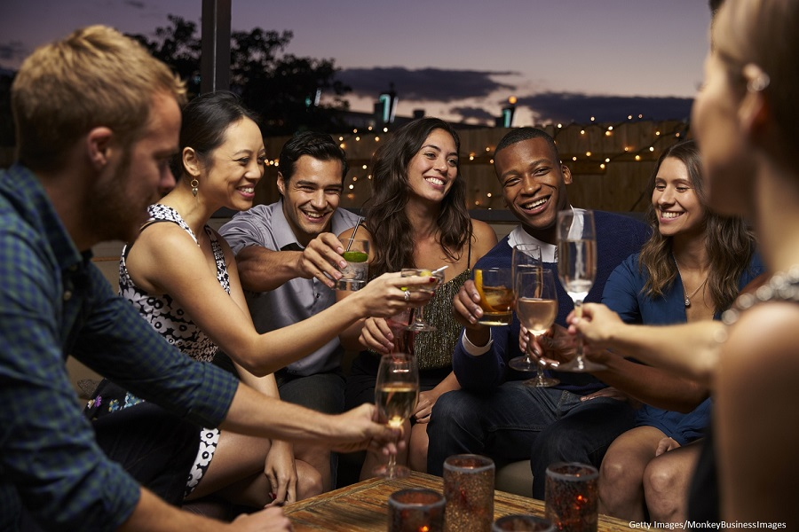 people enjoying a night out