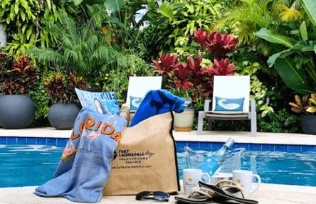 poolside photo of the beach bag