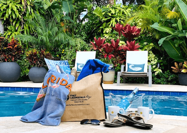 poolside photo of the beach bag