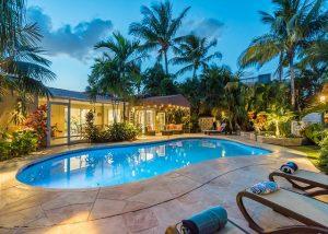 fort lauderdale vacation rental, victoria's secret heated pool, christmas in fort lauderdale