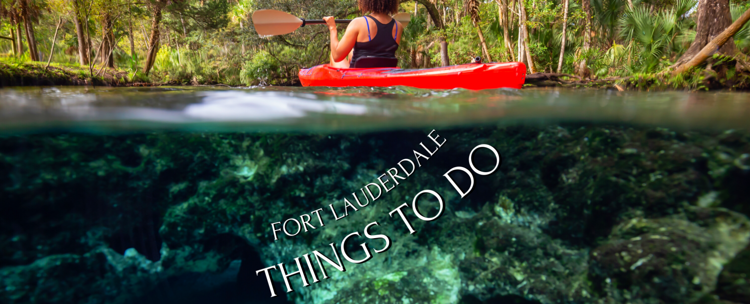 things to do in fort lauderdale , woman kayaking